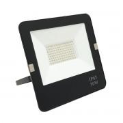 Silamp Projecteur LED Extérieur 50W IP65 Plat NOIR - couleur eclairage : Blanc Neutre 4000K - 5500K