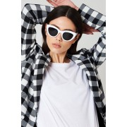 NA-KD Trend Cat Eye Sunglasses - Solglasögon - White