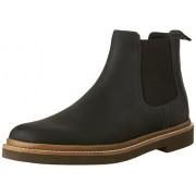 Clarks Men's Bushacre up Chelsea Boot, Black, 12 M US