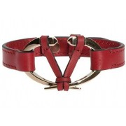 Valentino Garavani Leather Bracelet Red