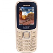 MTR MT 312 IN GOLDEN COLOR WITH LONG BATTERY BACK UP FM BLUETOOTH MULTI LANGUAGE SUPPORT DUAL SIM MOBILE PHONE