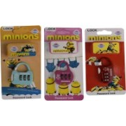13-HI-13 3 Digit Bag Safty Lock Minions Set of 3 (Mulitcolor) Safety Lock(Multicolor)