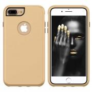 3 in 1 Solid Color Combination Case for iPhone 8 Plus & 7 Plus & 6 Plus (Gold+Black)