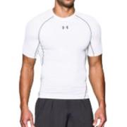 Under Armour HeatGear Compressie shirt - Heren (Wit)