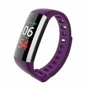 Measy G19 bluetooth V4.0 pulsera de fitness reloj inteligente pulso de presion arterial podometro banda inteligente - purpura