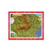 Eurodidactica - Tara mea si neamul meu - Harta pentru copii in relief 3D, 1000x700 mm
