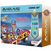 Joc de constructie magnetic 72 piese Magplayer