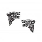 Boucles d'oreilles ALCHEMY GOTHIC - Dark Wolf Studs - E435