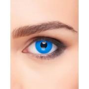 Vegaoo Schlichte Kontaktlinsen Jahreslinsen blau
