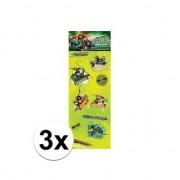 Ninja Turtles 3x Poezie album stickers Teenage Ninja Turtles