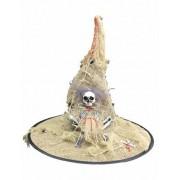 Sombrero bruja tela de yute luminoso adulto Halloween Única