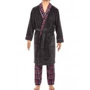 Hom Мягкий мужской халат из флиса темно-серого цвета HOM Arne 40c0671c00ZU