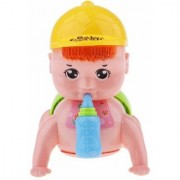 New Pinch Musical Baby Crawling Toy with Baby Sound Lights with Bottle (Assorted Colors)