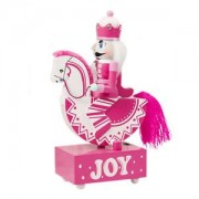 ELECTROPRIME Pink Trojan Horse Cavalry Music Box Toys with Light Romantic Clockwork Boxes