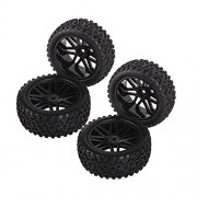 Generic Black : 4Pcs RC 1:10 Racing Car On Road Climbing Tires Slip-resistant Wheel Rim & Drift Tyre Tire 1/10 Scale Off-road Vehicles Y FJ88
