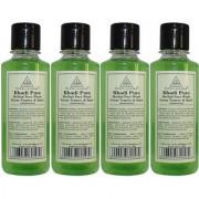 Khadi Pure Herbal Neem Teatree Basil Face Wash - 210ml (Set of 4)