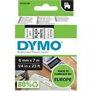 Dymo D1 Labelling Tape 43613 Black on White 6 mm x 7 m