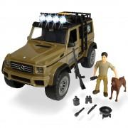 Masina Dickie Toys Playlife Ranger Set cu masina Mercedes-Benz AMG 500 4x4, figurina si accesorii