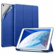 ESR Yippee Color Plus Case - полиуретанов калъф с поставка и отделение за Apple Pencil за iPad Air 3 (2019) (син)