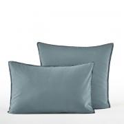 Am.pm Fronha de almofada em cetim de algodão, LanaAzul fjord- 65 x 65 cm