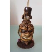 Narghilea artizanala din ceramica, sticla si lemn
