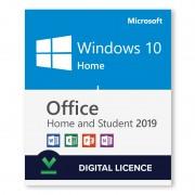 Windows 10 Home + Microsoft Office 2019 Home & Student Bundle - Digital Licences