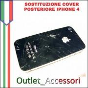Sostituzione Assemblaggio Cambio Cover Vetro Scocca Posteriore per Apple Iphone 4
