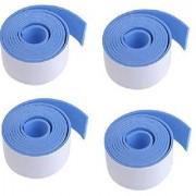 Kuhu Creations Premium Kid's Safety Furniture Edge Cushion Protector 2 meter Flat Bar Light Blue Tape. (4 Pcs)