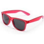 Rode verkleed zonnebril UV400 bescherming - verkleedkleding kostuum accessoires