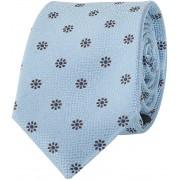 Krawatte Seide Blau Blumen - Blau