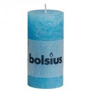 Bolsius Stompkaars rustiek 10x5 cm aqua