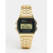 Casio Электронные часы с золотистым ремешком Casio A159WGEA-1EF - Золотой