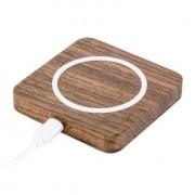 Gmyle - Draadloze QI Oplader Bureau Hout Wireless Charger Bruin