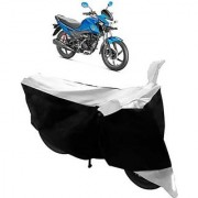 Intenzo Premium Silver and Black Two Wheeler Cover for Honda Livo