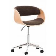 Sedia vintage ufficio PORTMORE in tessuto, marrone CLP, marrone, altezza seduta