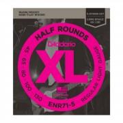 D'Addario Juego de 5 cuerdas para Bajo XL Half Rounds 45-130 45-65-80-100-130, ENR71-5