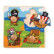 Bigjigs Toys BJ522 My First Peg Puzzle Pirate