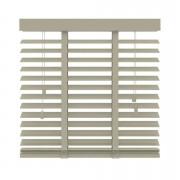 Horizontale jaloezie hout 50 mm - leem - 80x130 cm - Leen Bakker
