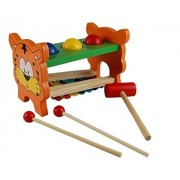 Wooden Pounding Bench Toys Tiger Piano Knock Combo Tables by Aday