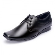 Shoebook Black Soft Genuine Leather Formal Lace UP Shoes