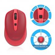 TeckNet M005 2.4G Wireless Mouse - малка безжична мишка (за Mac и PC) (червена)