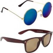 Zyaden Round, Wayfarer Sunglasses(Multicolor)