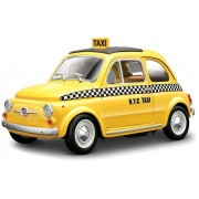 Bburago 2011 Star 1:24 Scale Yellow Fiat 500 Taxi