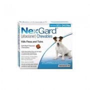 Nexgard Chewables For Medium Dogs 10.1-24 Lbs (Blue) 28mg 3 Chews