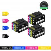 12 Pack Compatibel voor HP HP932XL 3 Zwart, 3 Cyan, 3 Magenta, 3 Geel voor HP Officejet 6100 ePrinter, 6600, 6700 Premium, 7110 Wide Format ePrinter
