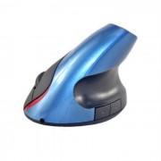 5D 2.4GHz con cable USB Vertical 1600dpi raton optico - Negro + Azul