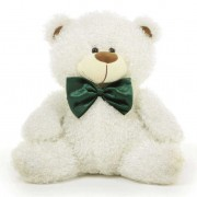 5 Feet White Christmas Bow Teddy Bear