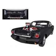 Shelby Collectibles Sc178 1965 Ford Shelby Mustang Gt350R With Racing Engine Matt Black 1-18 Diecast Car Model
