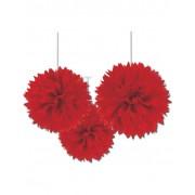 Vegaoo 3 röda klotformade dekorationer - Partydekor One-Size