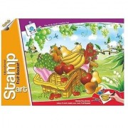 Ratna's Toyztrend Educational Art Craft Stamp Art Fruits Small With 6 Different Fruits Stamps For Kids Ages 4+